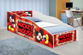 915d3f0e9c Mini Cama Mickey Vermelha - Todo para o seu Quarto no Mercado Livre ...