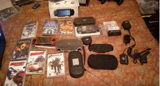 Sony Psp 1001, 6 Juegos Originales, Memoria 2gb, Accesorios