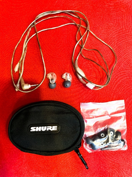 Fone In Ear Shure Se215. Transparente