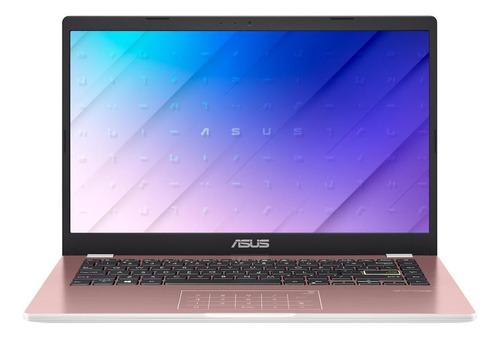 "Imagen 1 de 6 de Notebook Asus VivoBook E410MA rosa 14"", Intel Celeron N4020  4GB de RAM 128GB SSD, Intel UHD Graphics 600 1366x768px Windows 10 Home"