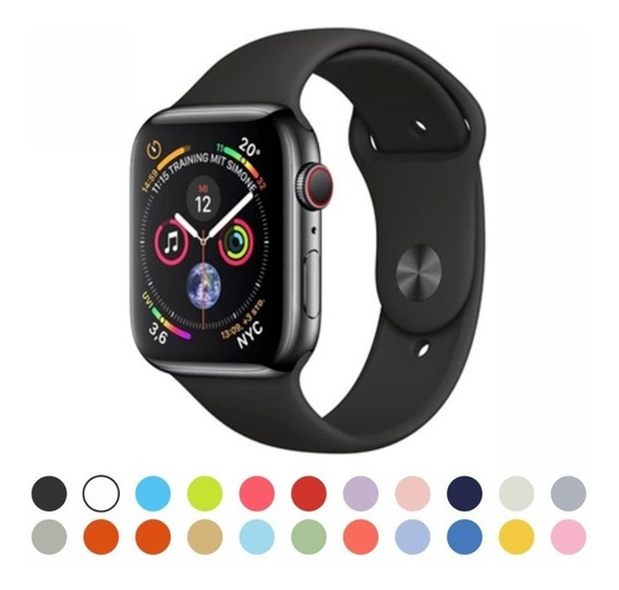 Pulseira Borracha Silicone Esporte Sport Apple Watch Series