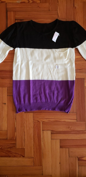 Sweater Fino A Rayas Impecable