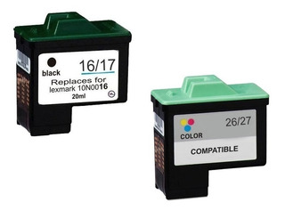 Kit Cartuchos Lexmark 16 E 26 Ou 17 E 27 Compativel