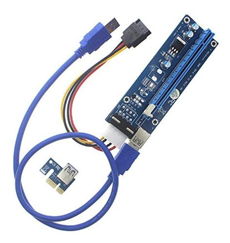 Imagen 1 de 5 de Tarjeta Adaptadora Con 50 Cm Cable De Extensión Usb 3.0