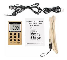 Mini Rádio De Bolso Digital Retekess V-112 Am/fm