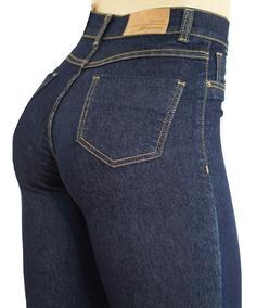 Calça Sawary Jeans Cintura Alta Hot Pants Com Elastano