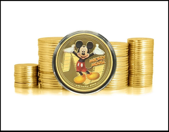 New Zealand Mickey Mouse 2018 Banhada A Ouro Fc * C O L *