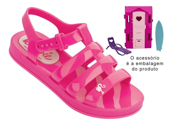 Sandália Infantil Grendene Barbie (com Brinde) 21832 | Katy