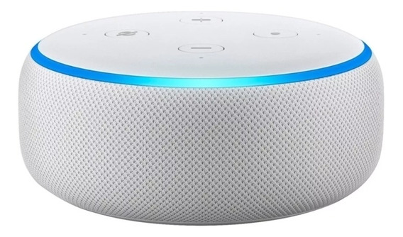 Smart Speaker Amazon Alexa Echo Dot 3 Branco Português Novo