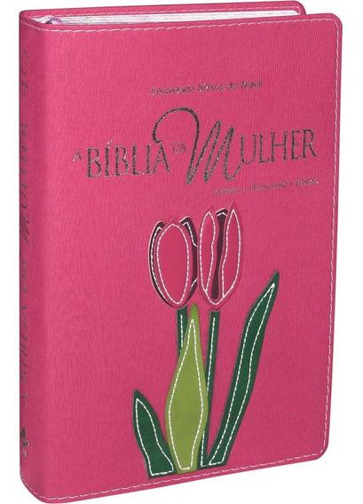 Bíblia Da Mulher Luxo Grande. Estudo Feminino Devocional