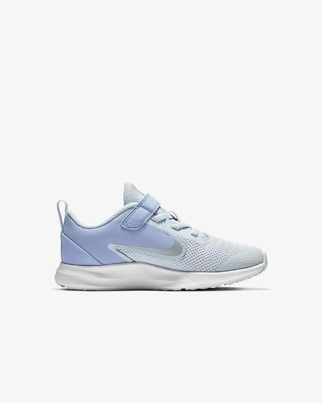 Tenis Nike Downshifter 9 Azul Niña Jr Originales A Meses