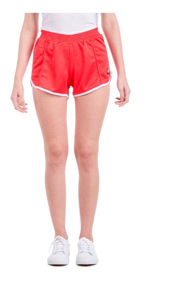 Short Tri Short Rojo Mujer Le Coq Sportif