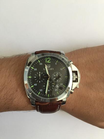 Relógio De Pulso Fashion Luxo Megir