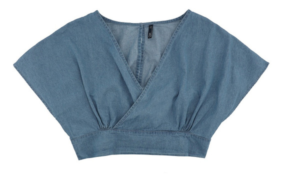 Blusa Crop Denim De Mujer C&a 1056841
