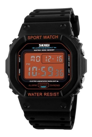 Relogio Masculino Skmei Esportivo 1134 Orange Digital