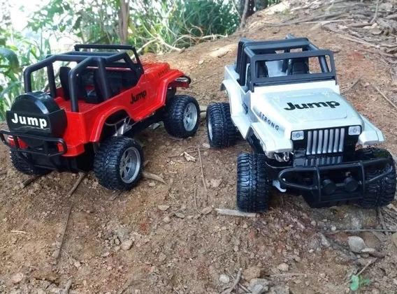 Jeep 1/12 Carrinho Jipe Controle Remoto Farol Led Controle