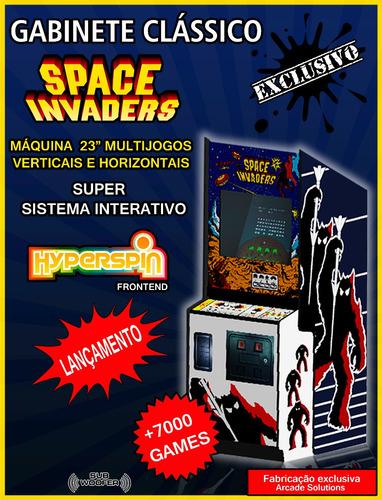 Fliperama Multijogos 28  Space Invaders...leiam!