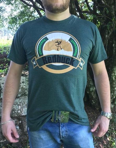 Camiseta Country Original Beer Label Verde Mescla Redbuck