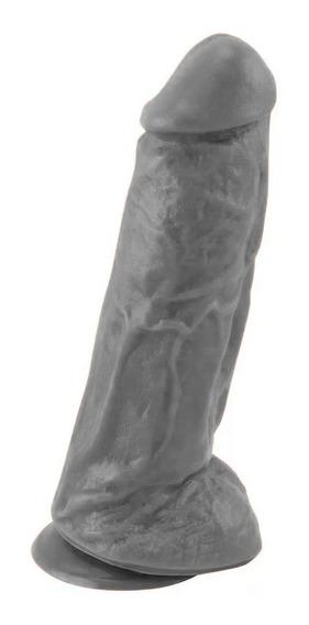 Pênis Ventosa Escroto Prótese Maciça 17 X 5 Cm Mini Kong Top