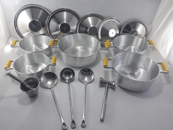Jogo De Panelas Com 10 Peças Em Alumínio Fundido 18 Ao 26