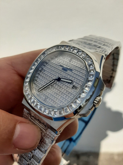 Reloj Suizo Automático Patek Philippe Nautilus Diamantes