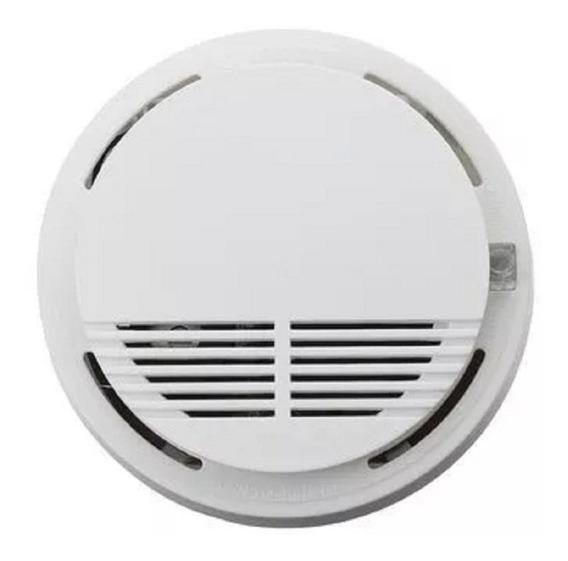 Alarma Sensor Detector Humo Autonomo Bateria 9v Inalámbrico