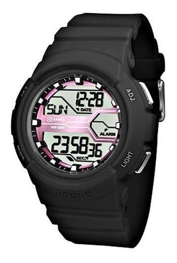 Relógio De Pulso Feminino X-games Preto Cód. Xfppd047