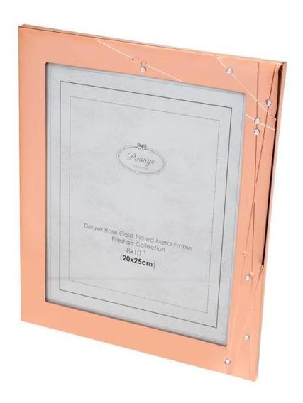 Porta-retrato De Aço Rose Gold 20x25cm