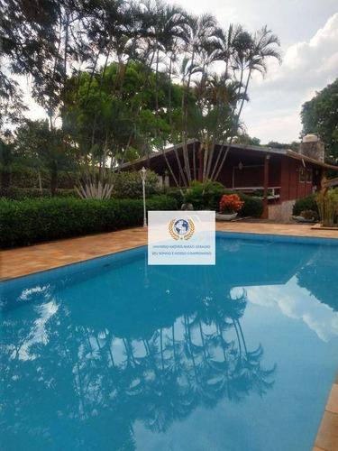 Imagem 1 de 30 de Chácara Com 6 Dormitórios À Venda, 13000 M² Por R$ 2.900.000,00 - Vila Hollândia - Campinas/sp - Ch0092