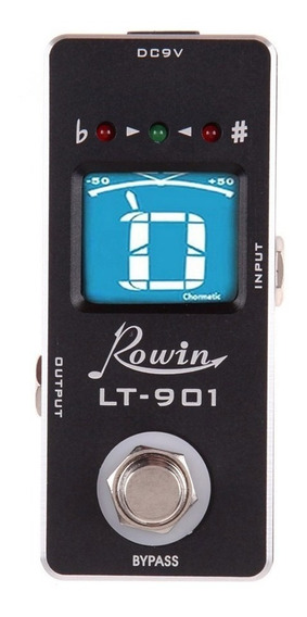 Mini Pedal Afinador Tuner Guitarra Cromático Rowin Lt-901