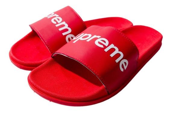 Chinelo Sandália Slide Vermelho Calçado No Preção 30% Desc