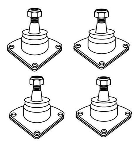 Imagen 1 de 4 de Kit 4 Rótulas Superiores E Inferiores Lada Laika ( 4 Piezas)