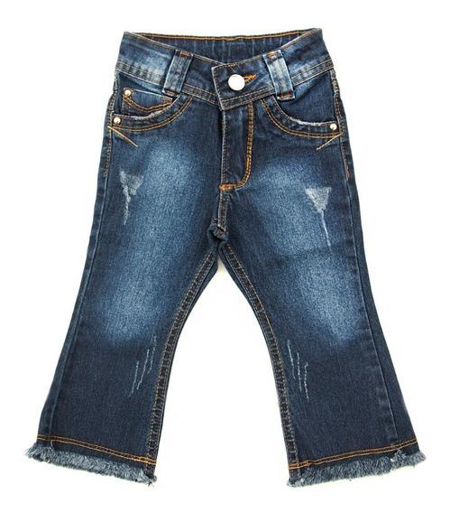 Oferta Calça Jeans Bebê Flare Feminina Meninas Tam 1 2 3,