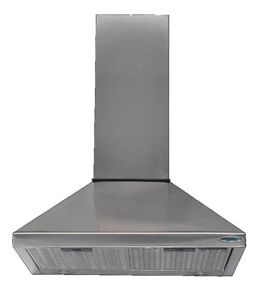 Campana Cocina 60 Piramide Acero Doble Turbina Luz Led 1000m