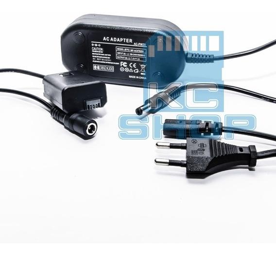 Fonte Ac-pw20 Adaptador Ac P/ Sony Nex C3 F3 A6000 A6300 A7r
