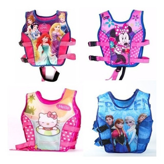 Chaleco Salvavidas Para Niñas De Princesas Minnie Frozen