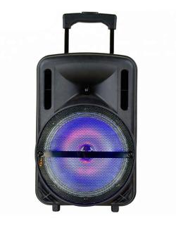 Bafle Recargable Bluetooth Potente Parlante 10 Pulgadas Con Control Remoto Y Micrófono Inalámbrico Sd Usb Karaoke
