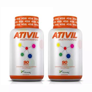 Vitamina Ativil Multivitaminas A A Z Fito - 2x90 Caps