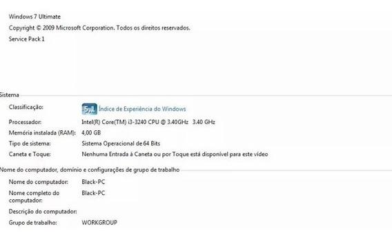 Pc Computador I3-3240 Cpu 3,40 Ghz Hd 500 8 Ram 64 Bits