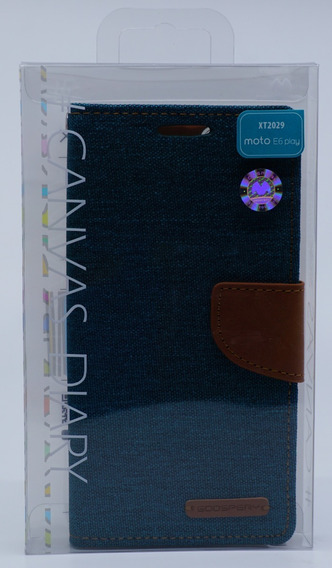 Funda Moto E6 Play Mercury Goospery Canvas Diary