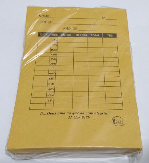 Envelope De Dízimo - Pacote C/ 100 Unidades
