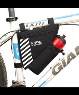 Bolsa Porta Objetos Bike Com Suporte Para Garrafa