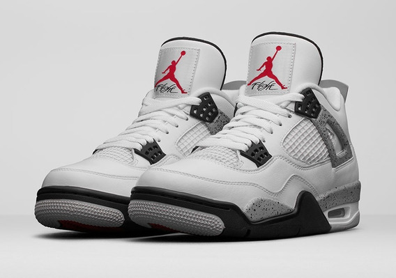 Tênis Nike Air Jordan 4 Cement Branco #prontaentrega#