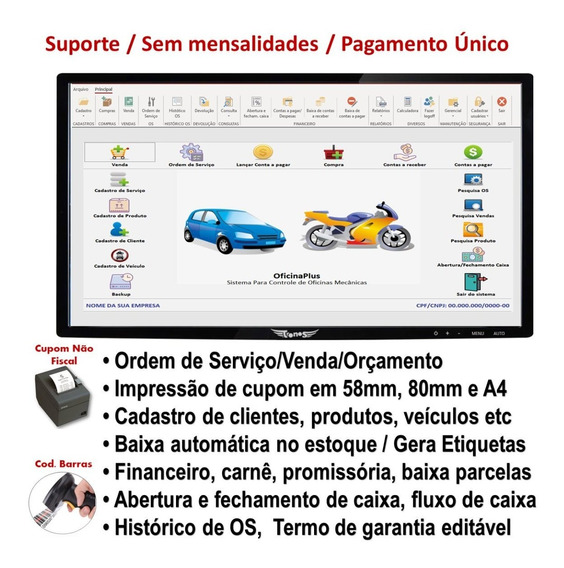 Sistema Para De Oficinas, Veículos,moto, Ordem De Serviço