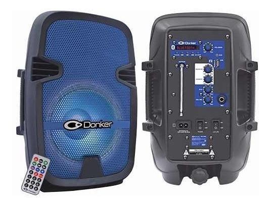 Bafle Amplificado 8 2,500w Pmpo Bluetooth Audioritmico Azul.