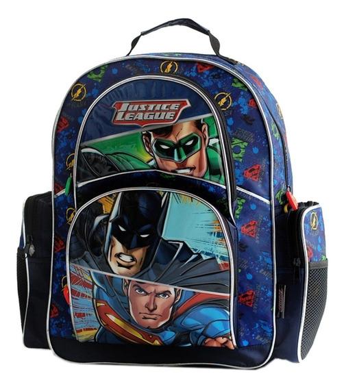 Mochila Espalda Grande 17p Liga Batman Superman Mundo Manias