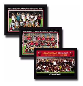Kit 3 Posters Personalizados 20x30 Cm Flamengo Campeão