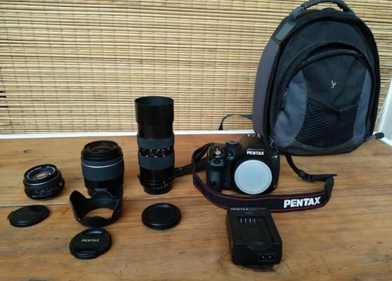 Oportunidad Pentax K50 : Body + Lentes + Bolso - Impecable