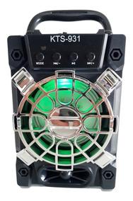 Caixa De Som Mp3 Amplificada Usb Microfone Karaokê Auxiliar