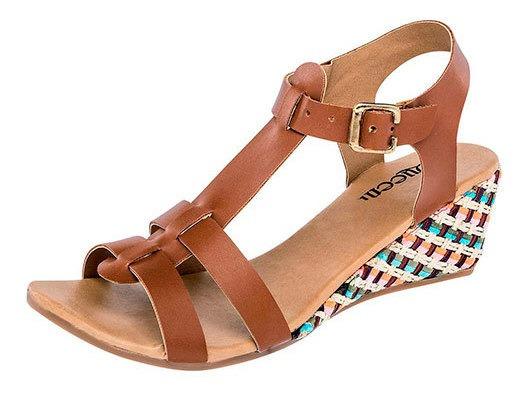 Zapato Comodo Queen Camel 5cm Dama D91467 Udt